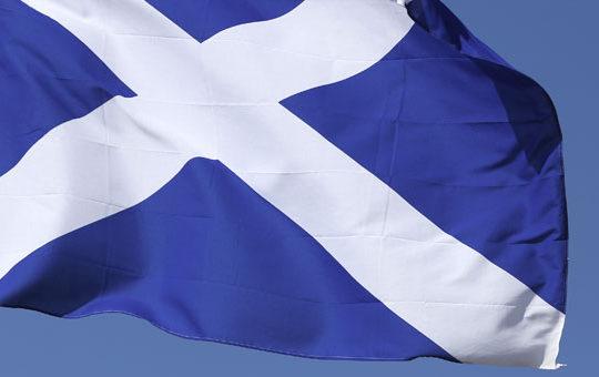 D'où vient le drapeau écossais?
