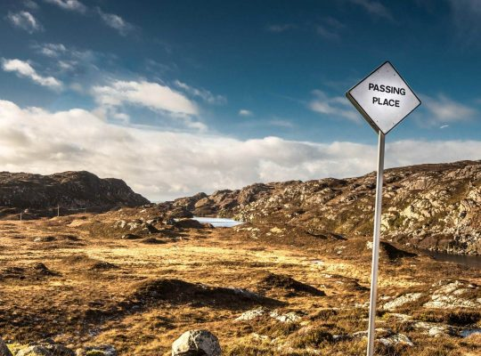 « Passing place » sur les petites routes de Highlands
