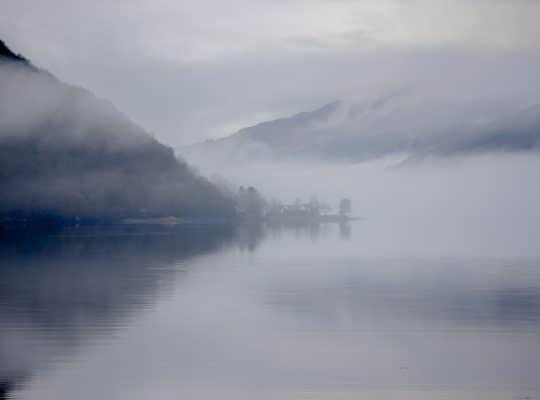 Brume matinale sur le Loch Long