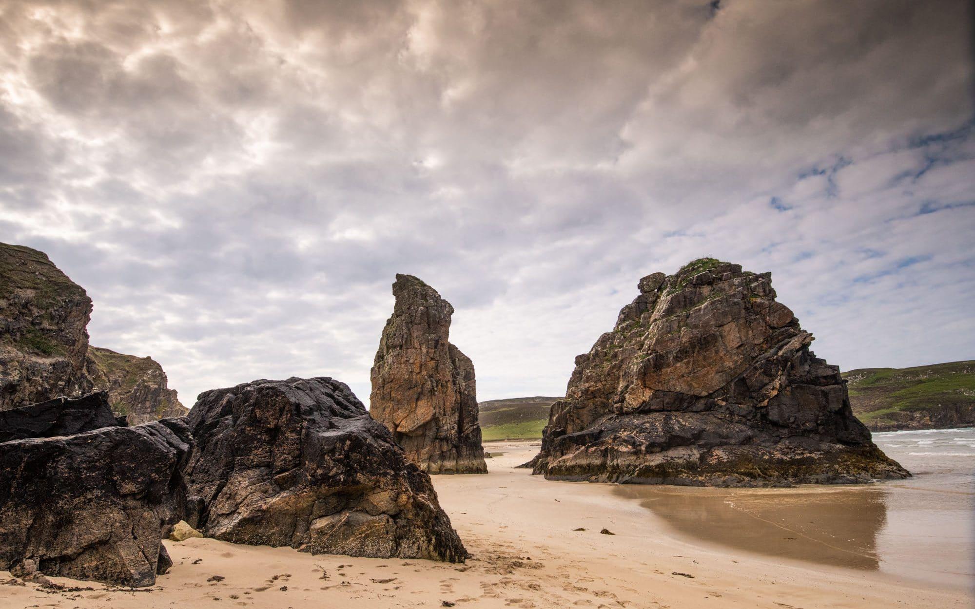 Gary beach, la plage au bout de la route Écosse