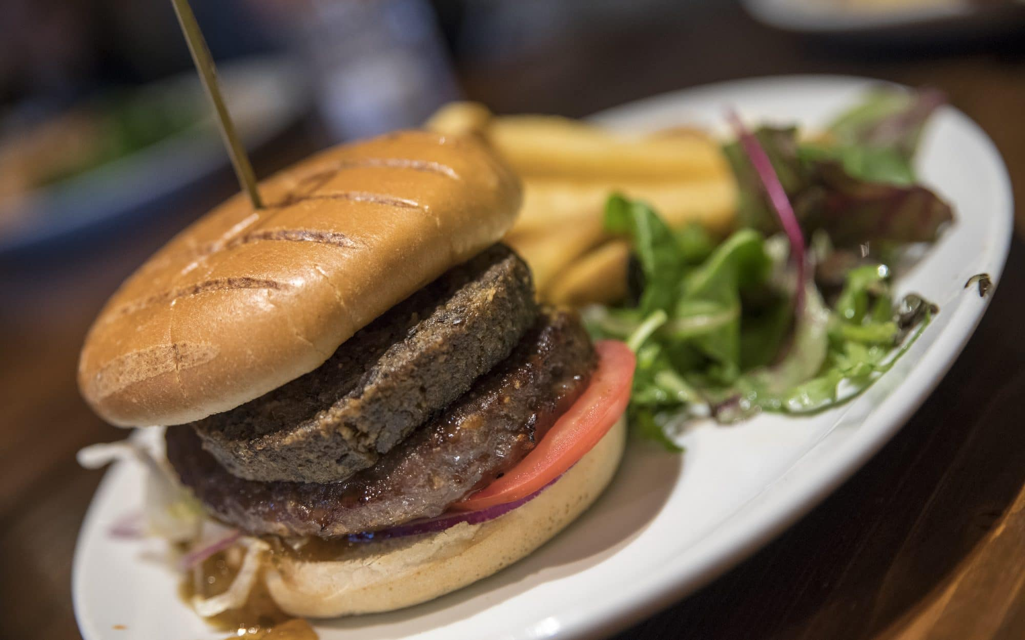 Un délicieux burger écossais