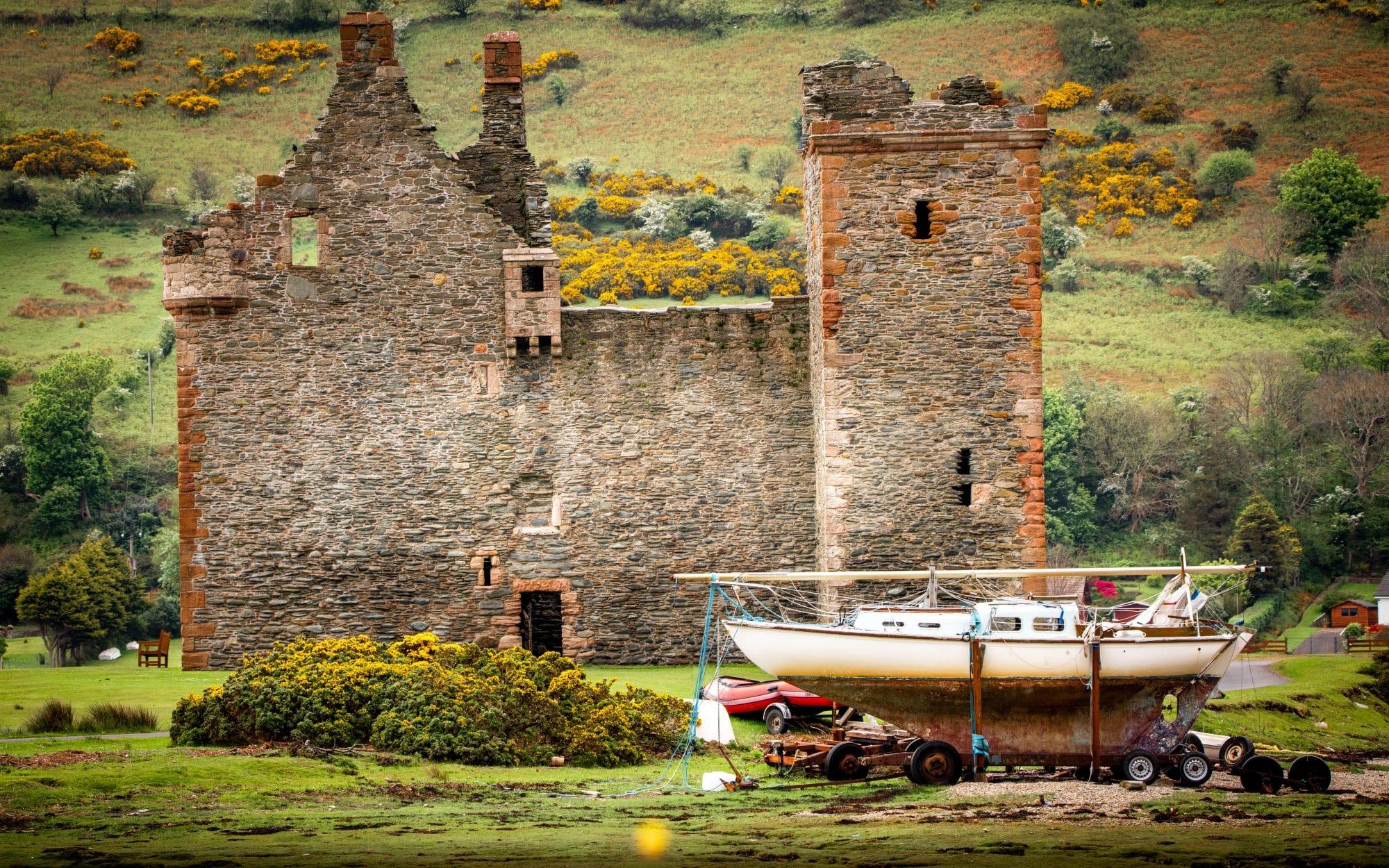 Lochranza, le château de Tintin