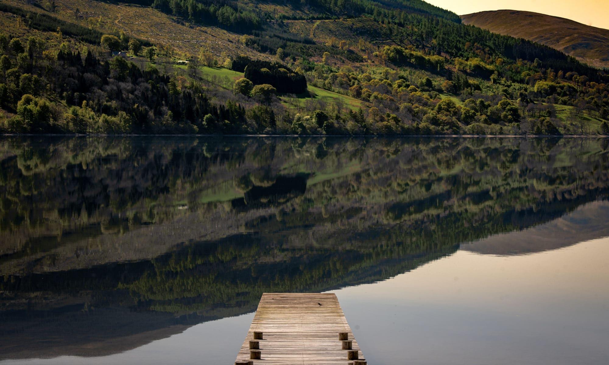 Loch Tay, un vrai miroir